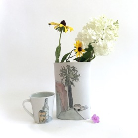 california vase and teacup