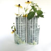 Tower vase pair
